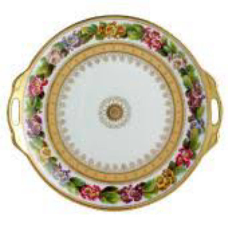 BOTANIQUE CAKE PLATE WITH HANDLES, large
