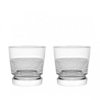 Jardin d'Eden-Set Of Two Crystal Old Fashioned Glasses