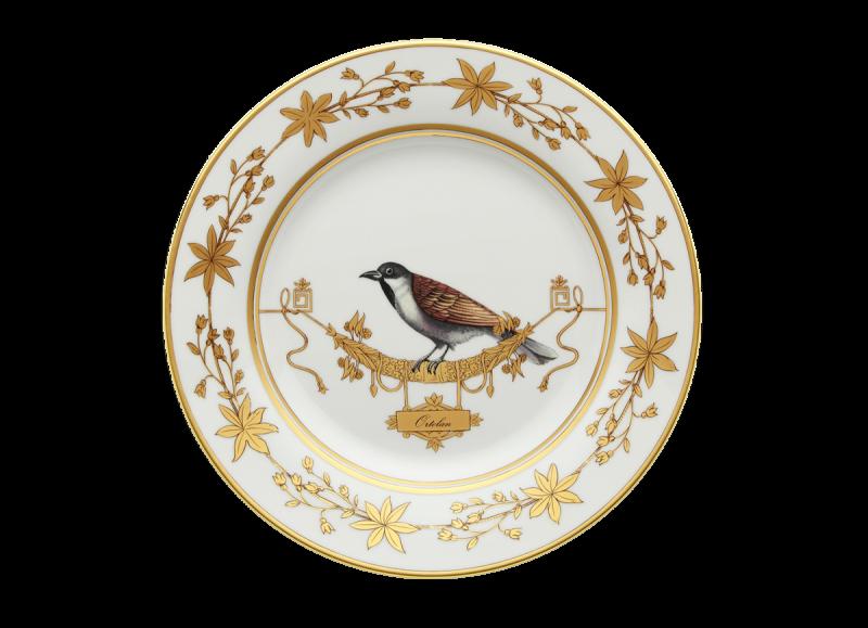 Dinner Plate Volière Ortolan, large