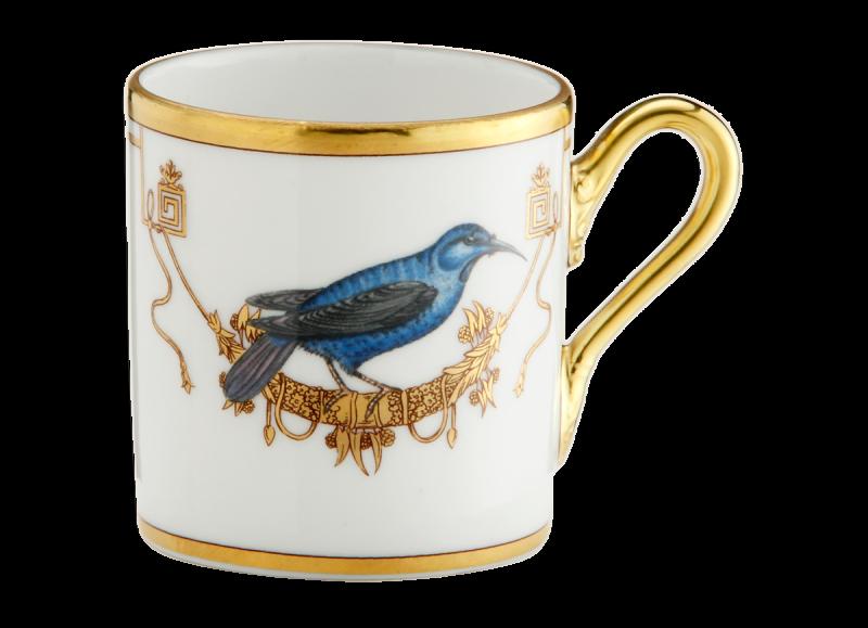 Espresso Cup Volière Grimpereau Bleu, large
