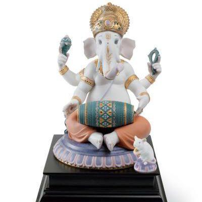 Mridangam Ganesha Figurine