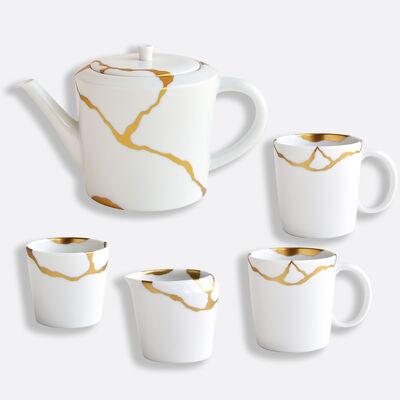 Kintsugi Set Of 1 Tea Pot 1 Tumbler 1 Creamer